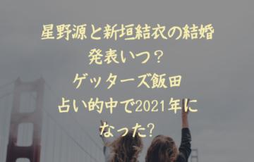 星野源 新垣結衣 結婚 占い ゲッターズ飯田