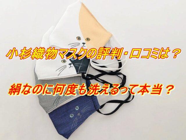 小杉織物 マスク 評判