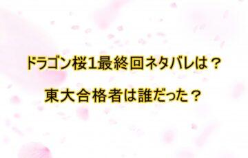 ドラゴン桜1 最終回 ネタバレ、合格者