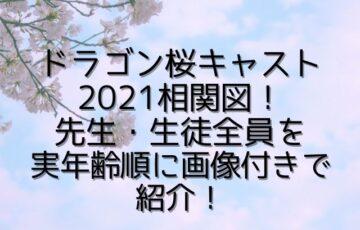 ドラゴン桜キャスト2021相関図!